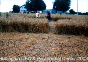 Click Pictures to read article on the Mayville Wisconsin Crop Circles