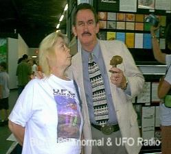 Derrel Sims Speaking on Abductees and Implants at his booth in Roswell 2003. Click Picture to go to  Derrel's site.