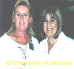 Mary Sutherland, Host for BUFO Paranormal and UFO Radio and Paola Harris, author of Connecting the Dots