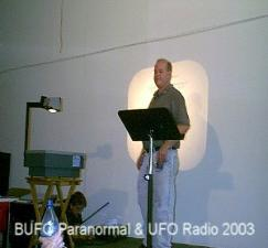 Guy Malone speaking on UFOs and Abductions in the Bible at Roswell 2003